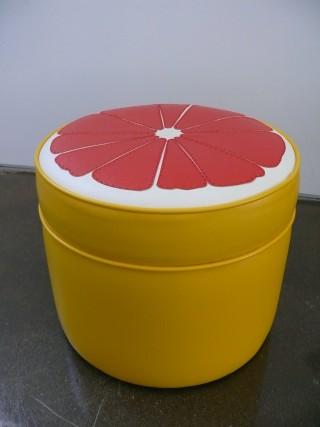 grapefruit ottoman